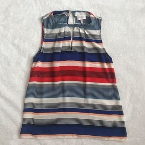 Laundry by Shelli Segal Striped Tank Top Blouse
